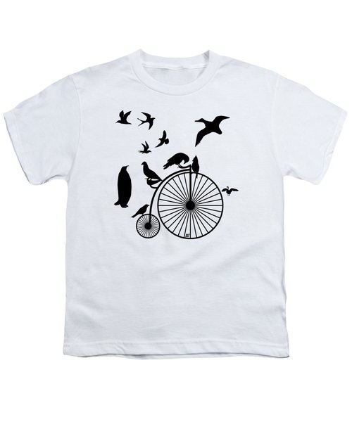 Dude The Birds Are Flocking Transparent Background Youth T-Shirt