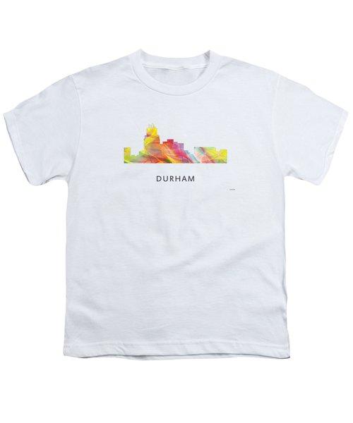 Durham North Carolina Skyline Youth T-Shirt by Marlene Watson