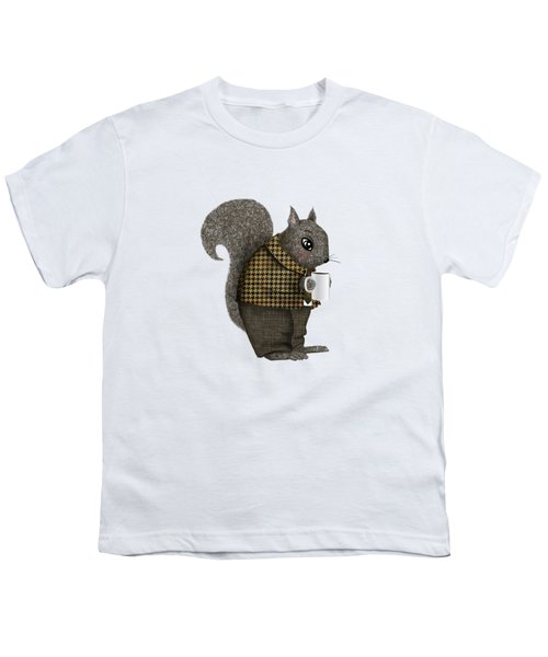 Early Morning For Mister Squirrel Youth T-Shirt by Little Bunny Sunshine