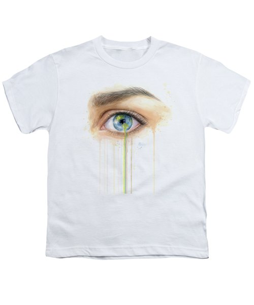 Earth In The Eye Crying Planet Youth T-Shirt
