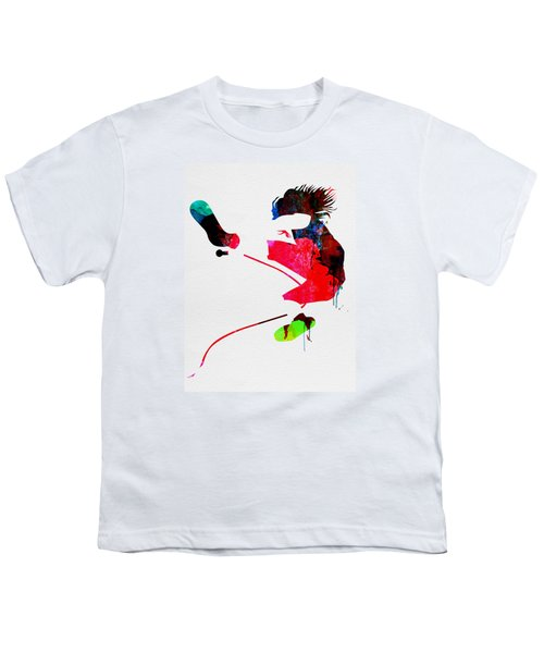 Eddie Watercolor Youth T-Shirt by Naxart Studio