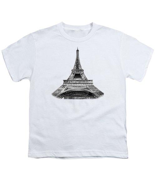 Eiffel Tower Design Youth T-Shirt by Irina Sztukowski