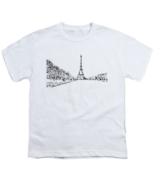 Eiffel Tower Youth T-Shirt by ISAW Gallery
