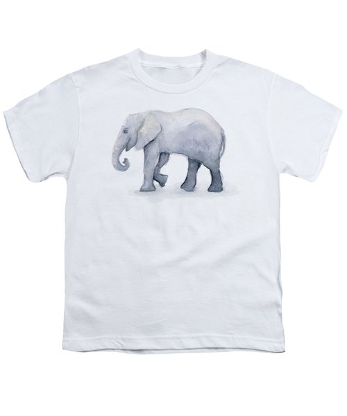 Elephant Watercolor Youth T-Shirt