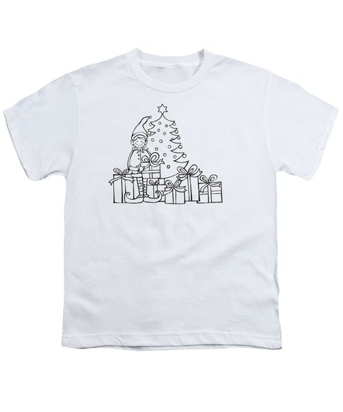 Elf And Presents  Youth T-Shirt by Mantra Y