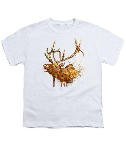 Elk In Watercolor Youth T-Shirt
