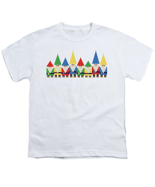 Elves On White Youth T-Shirt