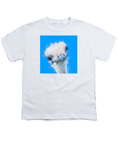 Emu Painting Youth T-Shirt by Jan Matson