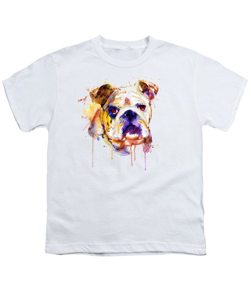 English Bulldog Head Youth T-Shirt