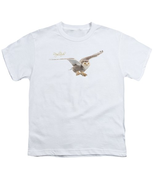 eRegal Studio Snowy Owl graphic Youth T-Shirt