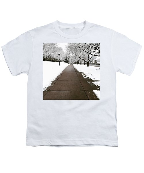 Winter Walks  Youth T-Shirt by Cyrionna The Cyerial Artist
