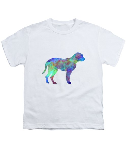 Fawn Brittany Griffon In Watercolor Youth T-Shirt by Pablo Romero