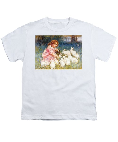 Feeding The Rabbits Youth T-Shirt by Frederick Morgan