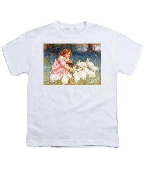 Feeding The Rabbits Youth T-Shirt by Frederick Morgan
