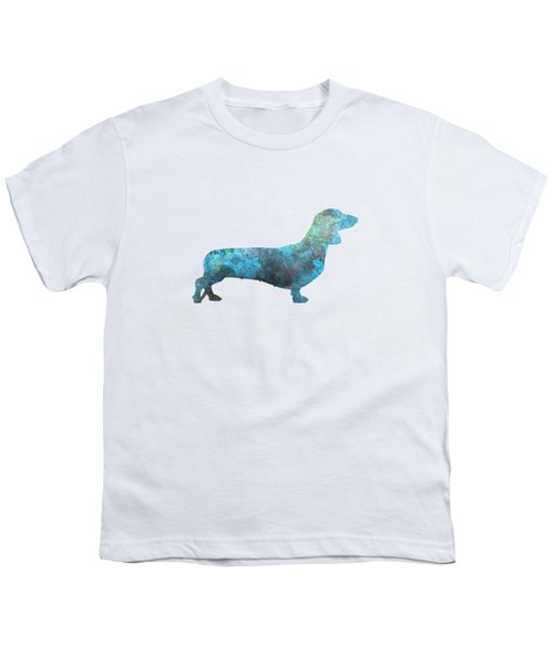 Female Dachsund In Watercolor Youth T-Shirt