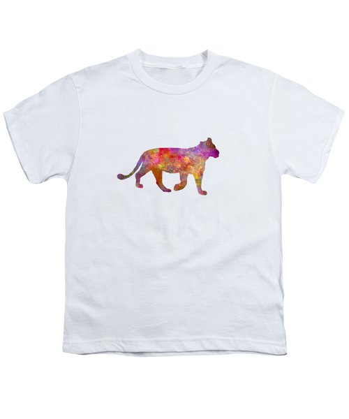 Female Lion 01 In Watercolor Youth T-Shirt by Pablo Romero