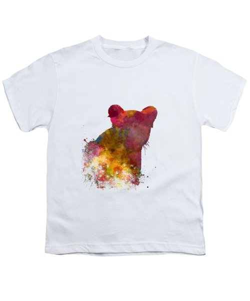 Female Lion 02 In Watercolor Youth T-Shirt by Pablo Romero
