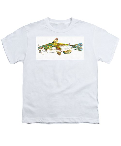 Fish Art Catfish Youth T-Shirt by Dan Sproul