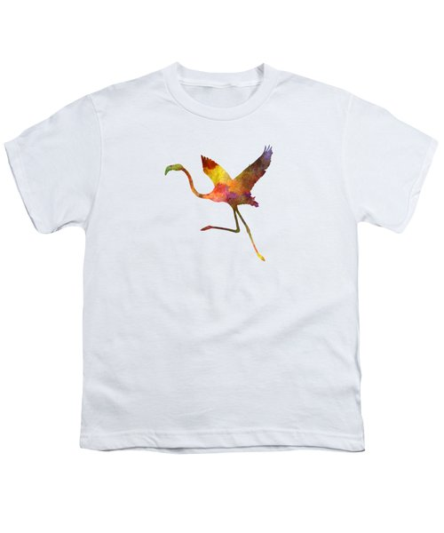 Flamingo 02 In Watercolor Youth T-Shirt by Pablo Romero