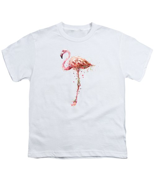 Flamingo Watercolor Painting Youth T-Shirt