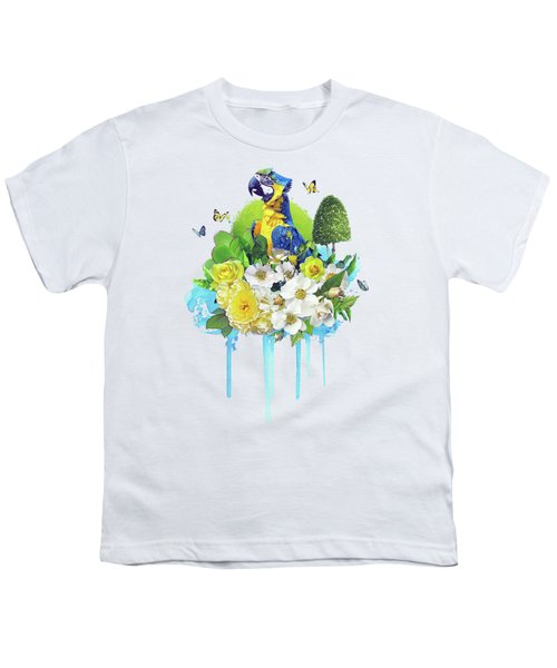 Floral Parrot Youth T-Shirt