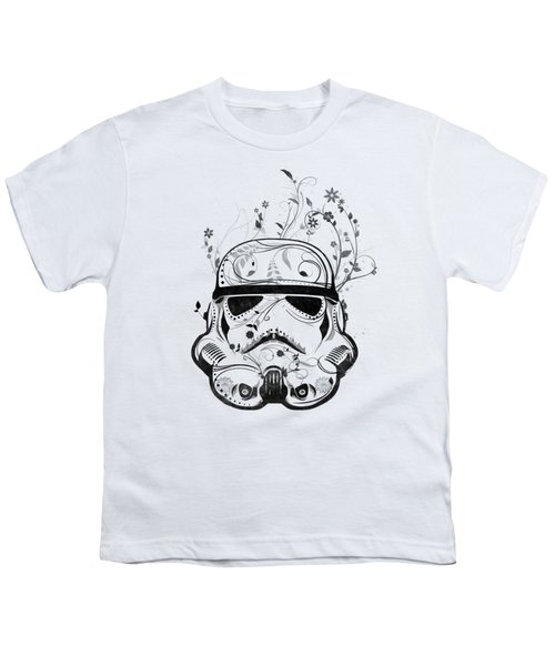 Flower Trooper Youth T-Shirt by Nicklas Gustafsson