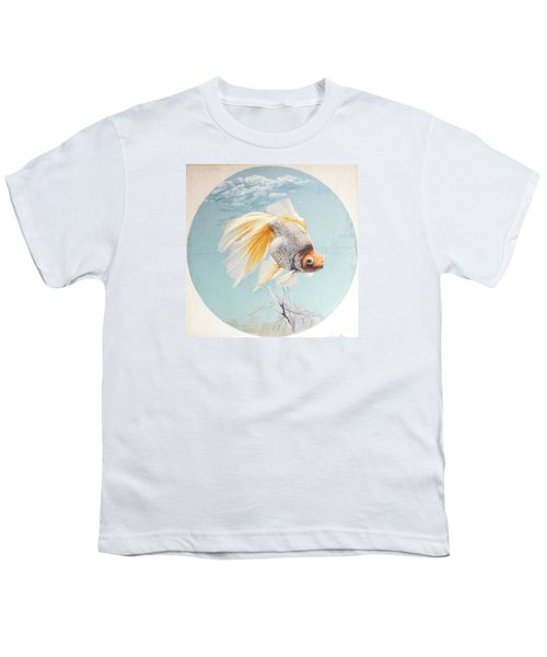 Flying In The Clouds Of Goldfish Youth T-Shirt by Chen Baoyi