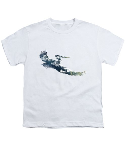 Flying Pelican Youth T-Shirt by Diana Van