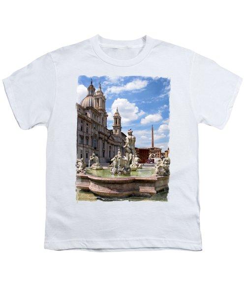 Fontana Del Moro.rome Youth T-Shirt by Jennie Breeze