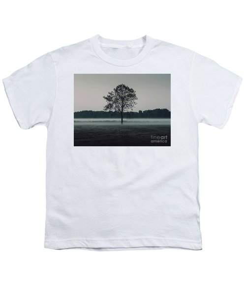 Youth T-Shirt featuring the photograph Forest Fog by MGL Meiklejohn Graphics Licensing