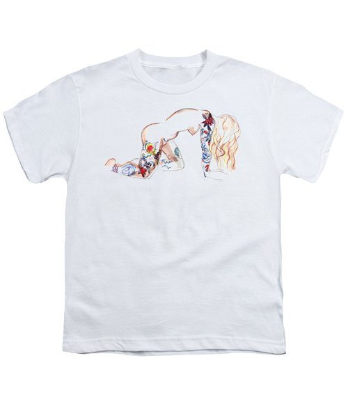 Forever Amber - Tattoed Nude Youth T-Shirt by Carolyn Weltman