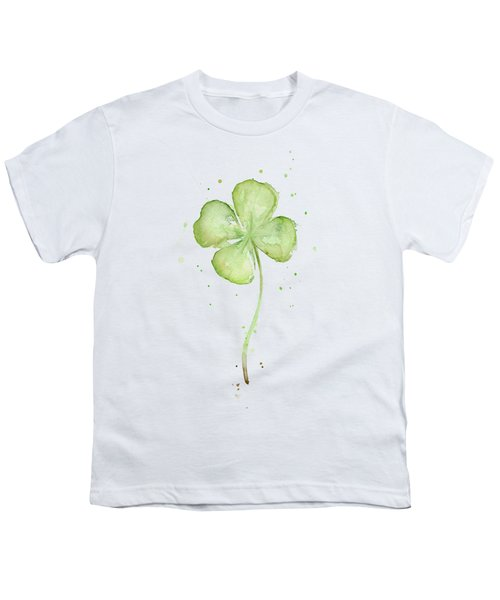 Four Leaf Clover Lucky Charm Youth T-Shirt