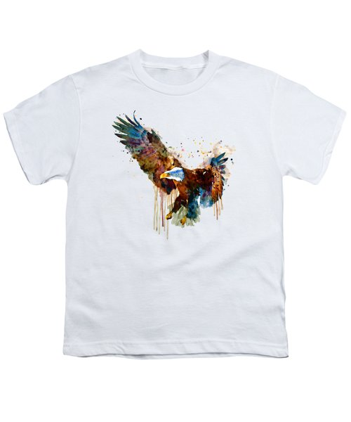 Free And Deadly Eagle Youth T-Shirt by Marian Voicu