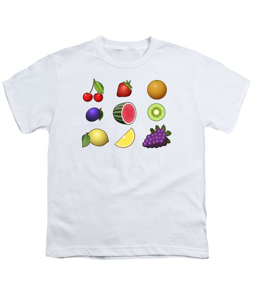 Fruits Collection Youth T-Shirt by Miroslav Nemecek