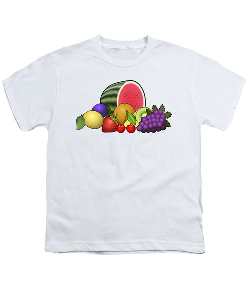 Fruits Heap Youth T-Shirt by Miroslav Nemecek