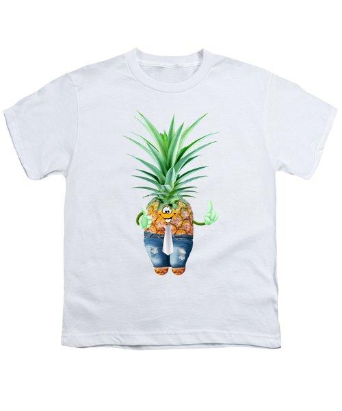 Fun Pineapple  Youth T-Shirt by Elena Nikolaeva