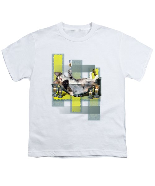 Funny Pet Print With A Tipsy Kitty  Youth T-Shirt by Regina Femrite