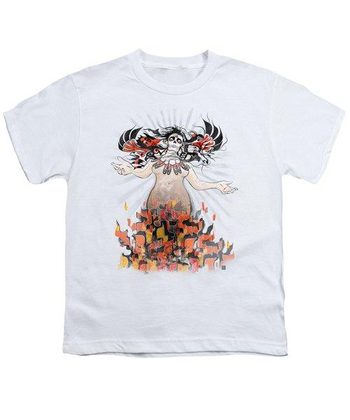 Gaia In Turmoil Youth T-Shirt by Sassan Filsoof
