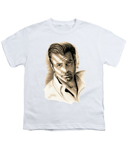 George Clooney Youth T-Shirt by Gitta Glaeser