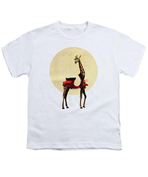 Giraffe Youth T-Shirt by Ali Gulec