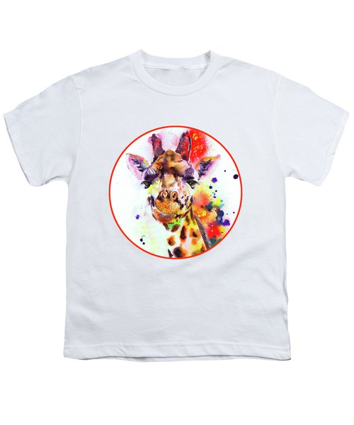 Giraffe Youth T-Shirt by Isabel Salvador