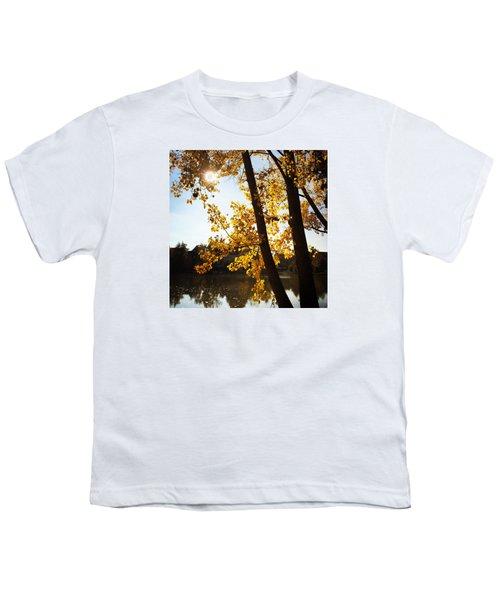 Golden Trees In Autumn Sindelfingen Germany Youth T-Shirt