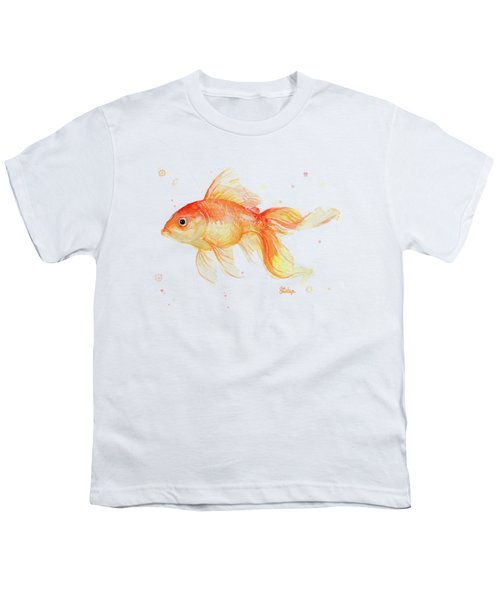 Goldfish Painting Watercolor Youth T-Shirt