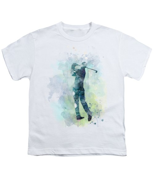 Golf Player  Youth T-Shirt by Marlene Watson