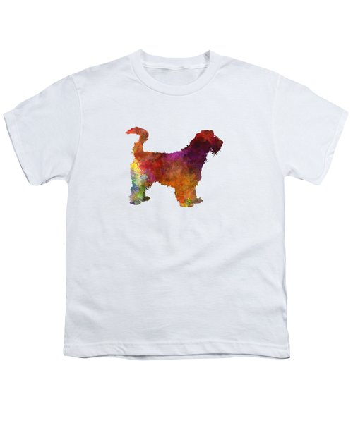 Grand Griffon Vendeen In Watercolor Youth T-Shirt by Pablo Romero