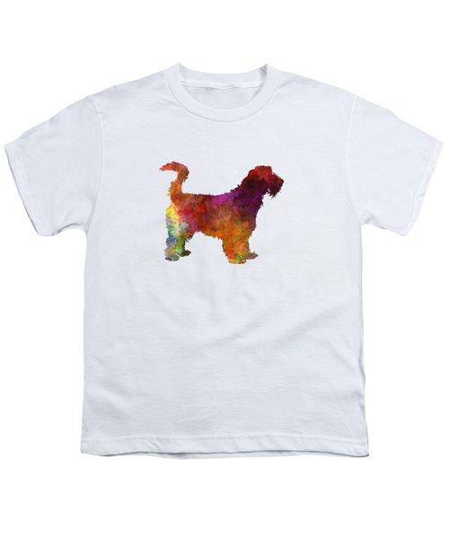 Grand Griffon Vendeen In Watercolor Youth T-Shirt