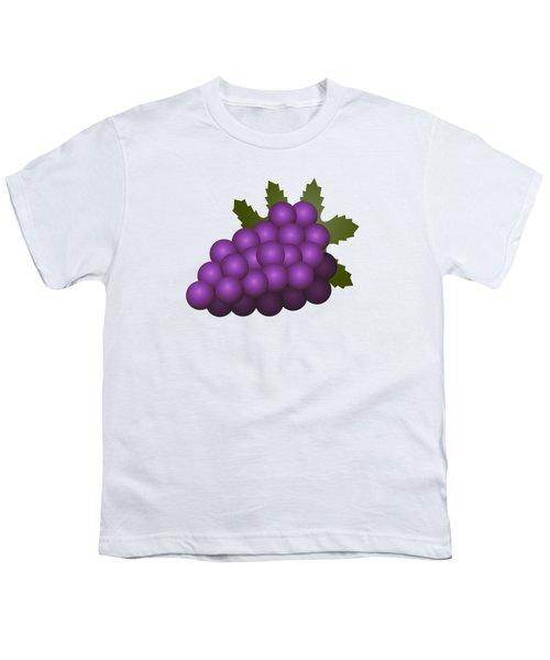 Grapes Fruit Youth T-Shirt by Miroslav Nemecek