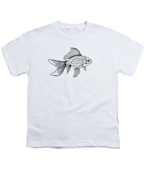 Graphic Fish Youth T-Shirt by Masha Batkova