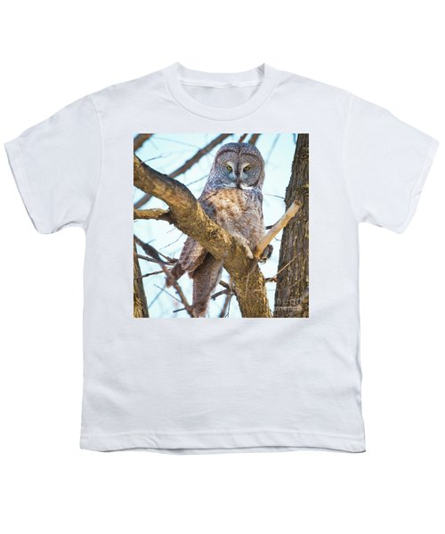 Great Gray Owl Youth T-Shirt by Ricky L Jones