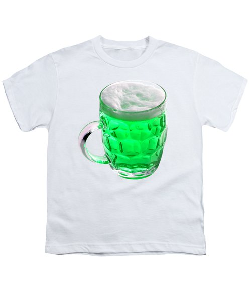Green Beer Youth T-Shirt by Stephanie Brock